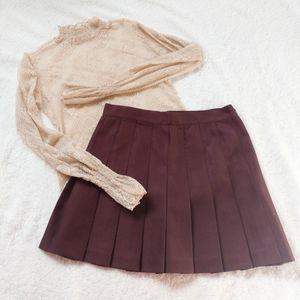 American Apparel Truffle Tennis Skirt